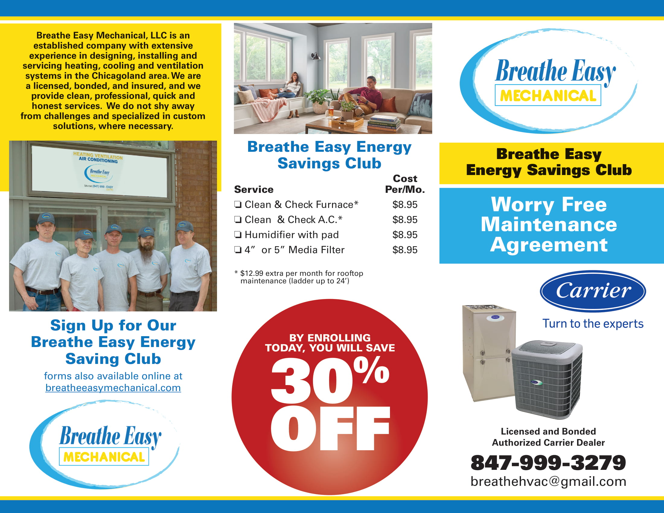 breathe easy energy saving club